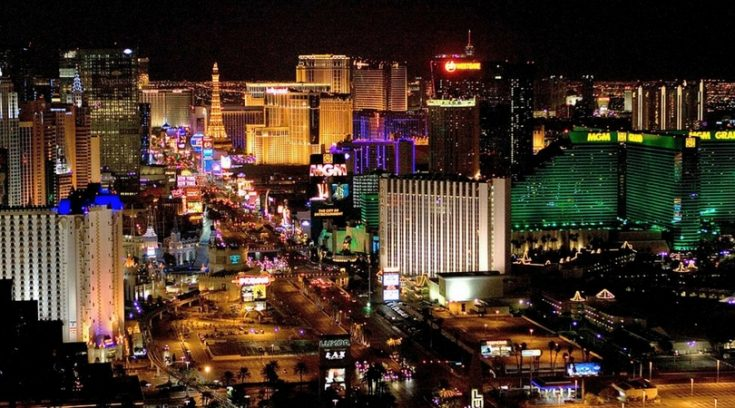 cheap places to travel in the U.S. - photo of las vegas strip at night