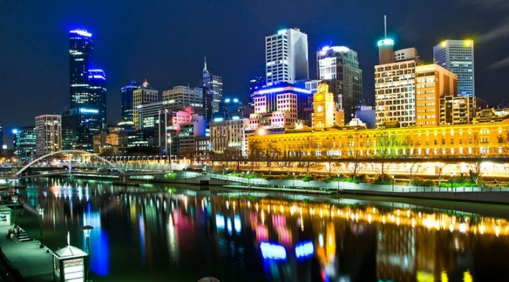 image of Melbourne at night