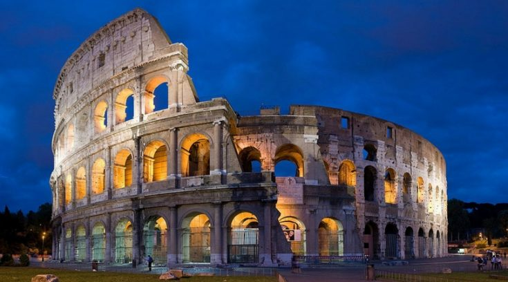 image of Roman Colosseum at dusk