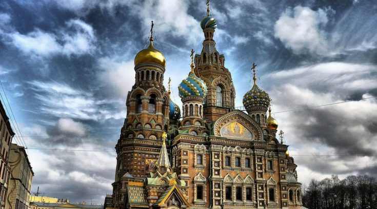 image of church in St. Petersburg, Russia
