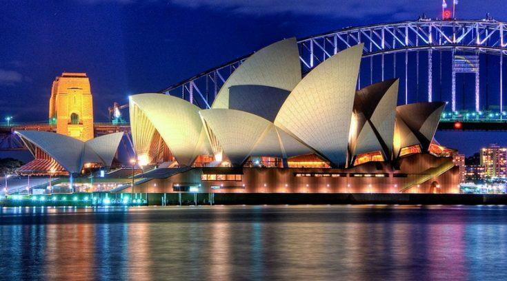 image of Sydney Opera House at night