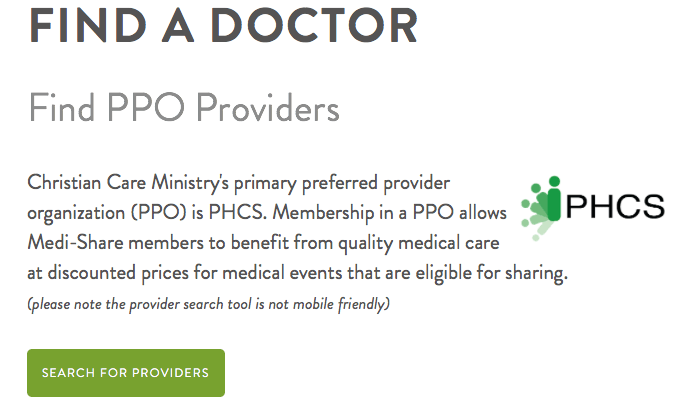 Find a doctor with Medi-Share