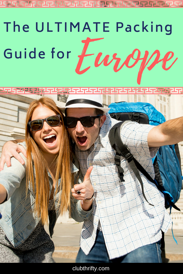 "Packing for Europe doesn't have to be as overwhelming as it seems. Use our ""Essential Packing List for Europe"" to help you get started!"