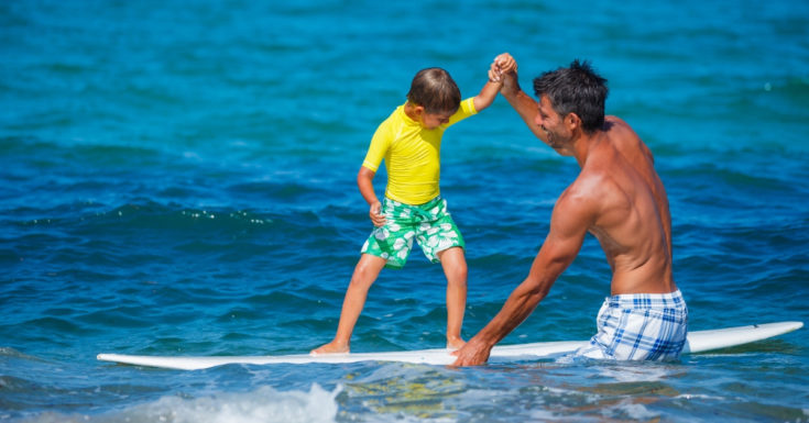 Photo of Child Taking Surf Lessons
