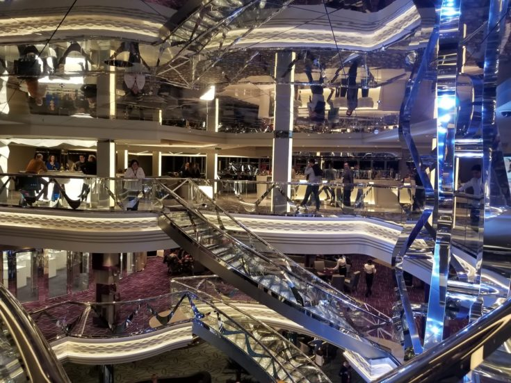 photo of main staircase on ship