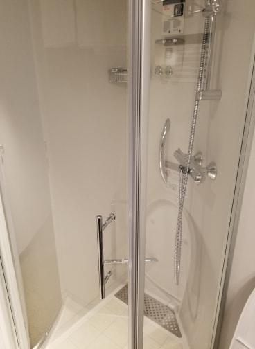 photo of shower MSC Bellissima cruise cabin