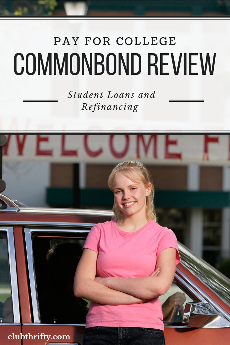 CommonBond Review Pin - picture of college student arriving at college next to car