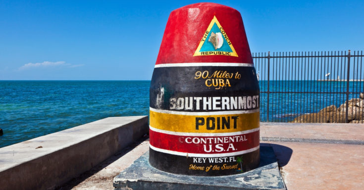 Go Miami Pass - picture of Key West southernmost point buoy