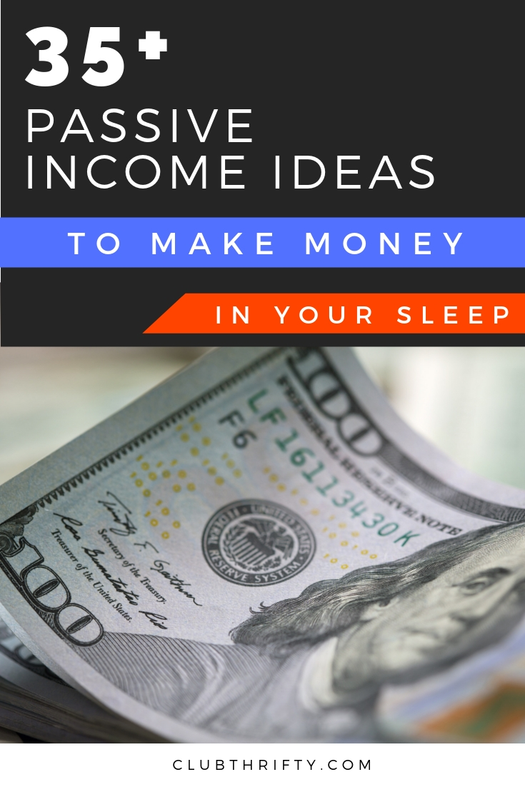 Passive Income Ideas Pin - picture of hundred dollar bill