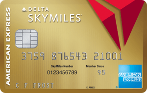 image of Gold Delta SkyMiles credit card