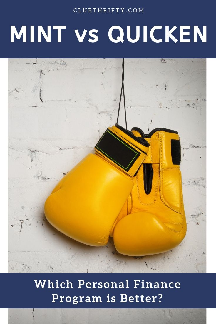 Mint vs Quicken Pin - picture of boxing gloves