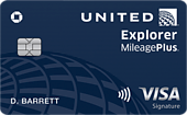 image of the united explorer credit card