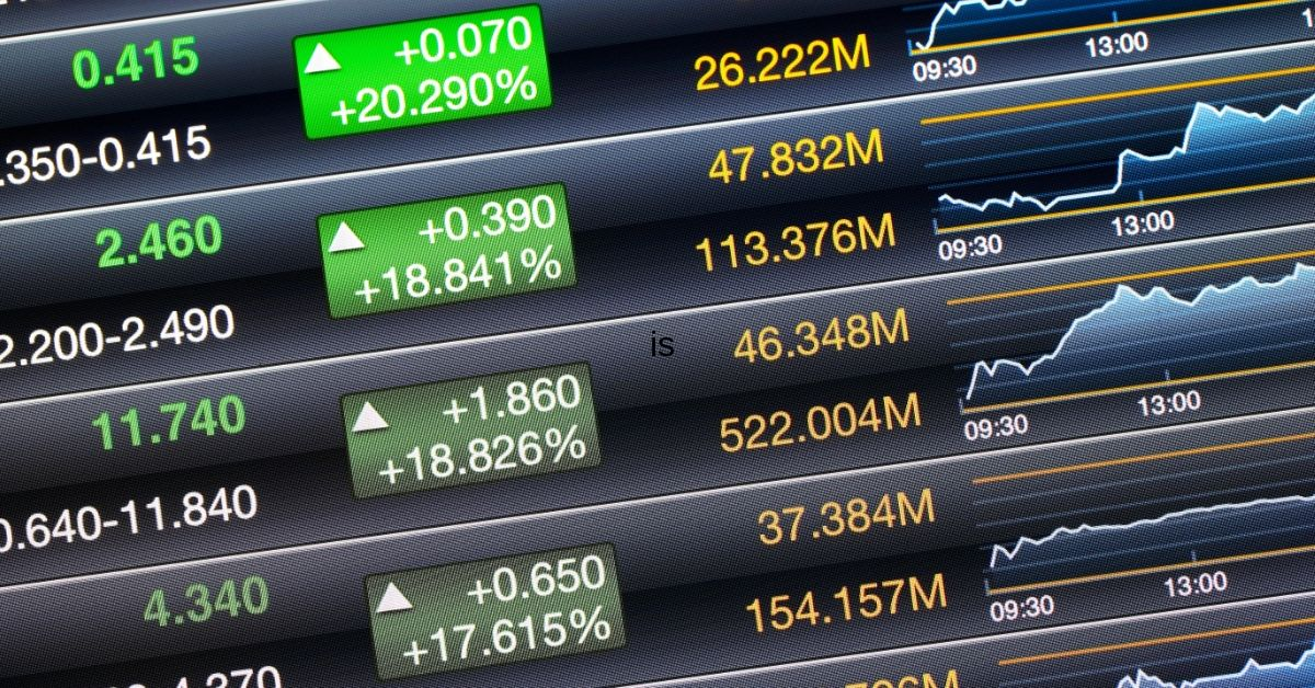 What is an ETF - picture of stock market prices