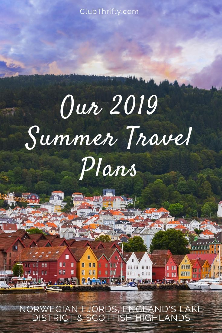 Our summer travel plans 2019 pin - picture of Bergen, Norway