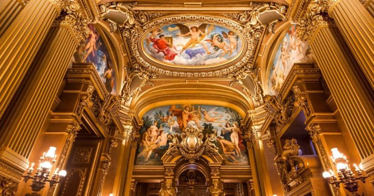 5 Paris Attractions Not to Miss - picture of inside Palais Garnier Opera House