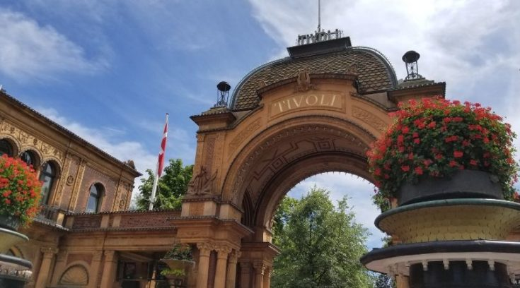 Photo of front gate of Tivoli Gardens, Copenhagen, Denmark