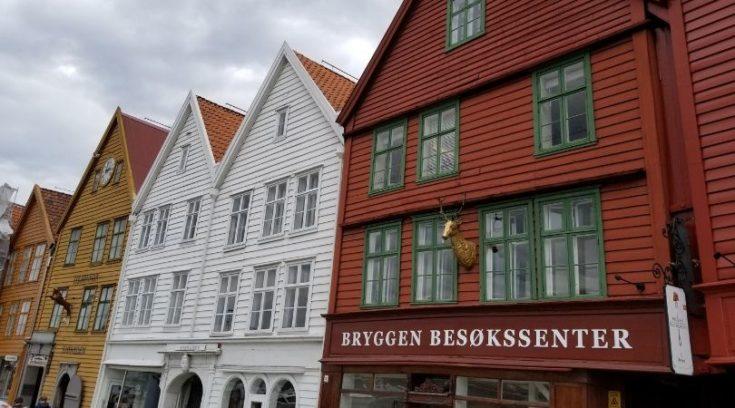 Photo of Bergen, Norway - wooden buildings