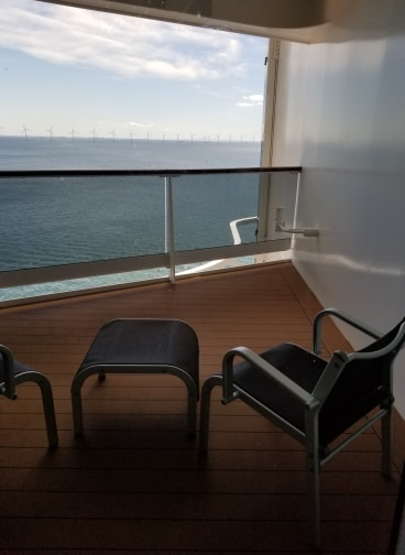 photo of balcony on cruise ship