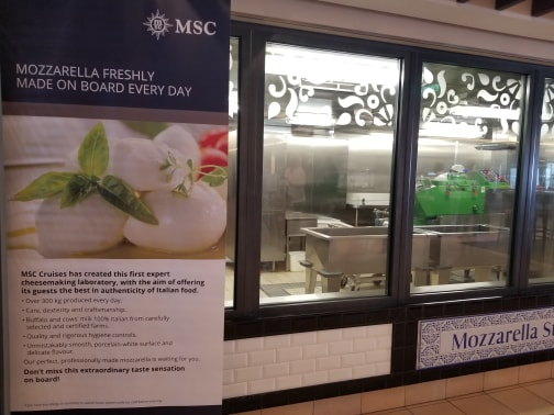 photo of mozzarella station on MSC Meraviglia