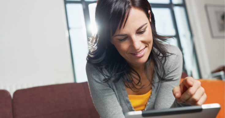 LifePoints Review - picture of woman on tablet