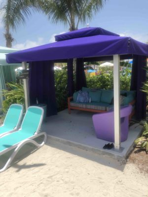 Symphony of the Seas - picture of the Thrill Waterpark cabana