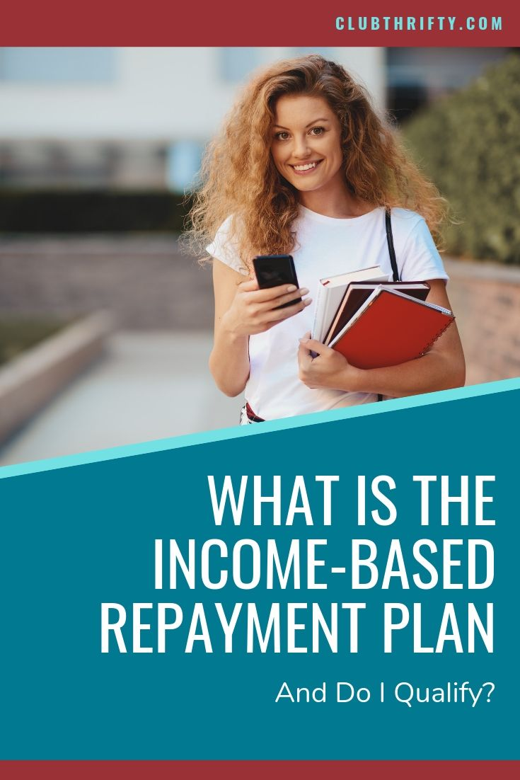 What is Income-Based Repayment Plan Pin - picture of female college student with smartphone and books