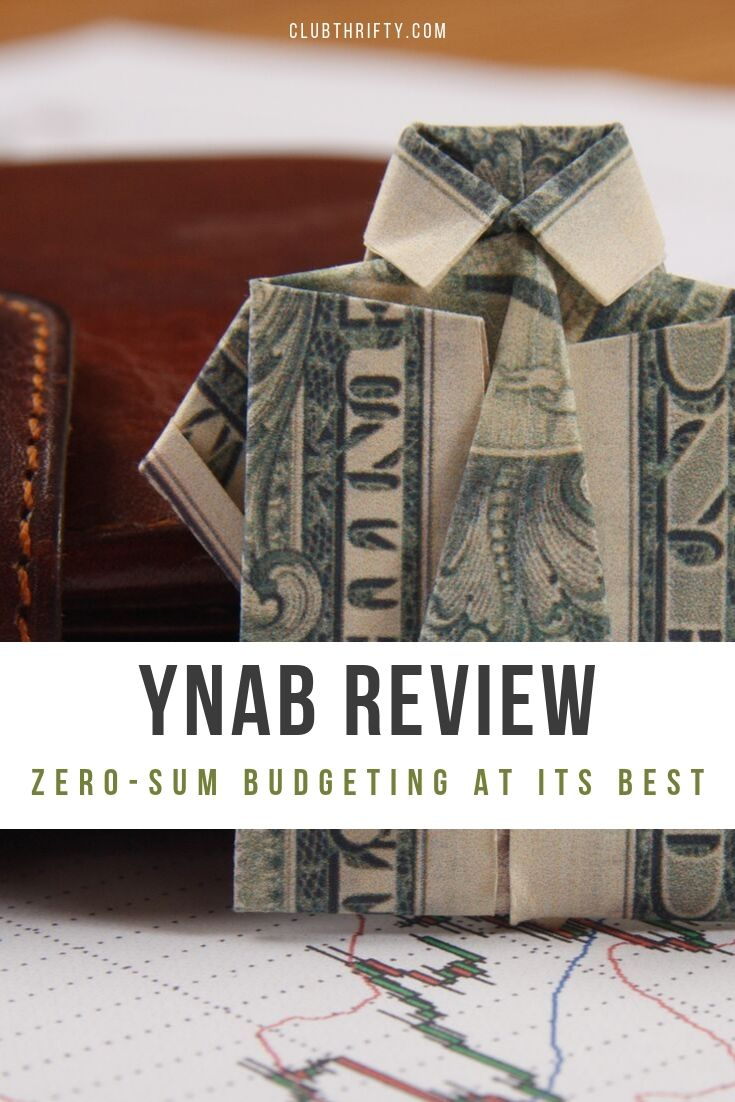 YNAB Review - picture of dollar folded into a suit jacket