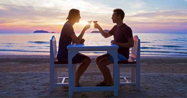 11 Budget Templates - picture of couple having dinner on beach