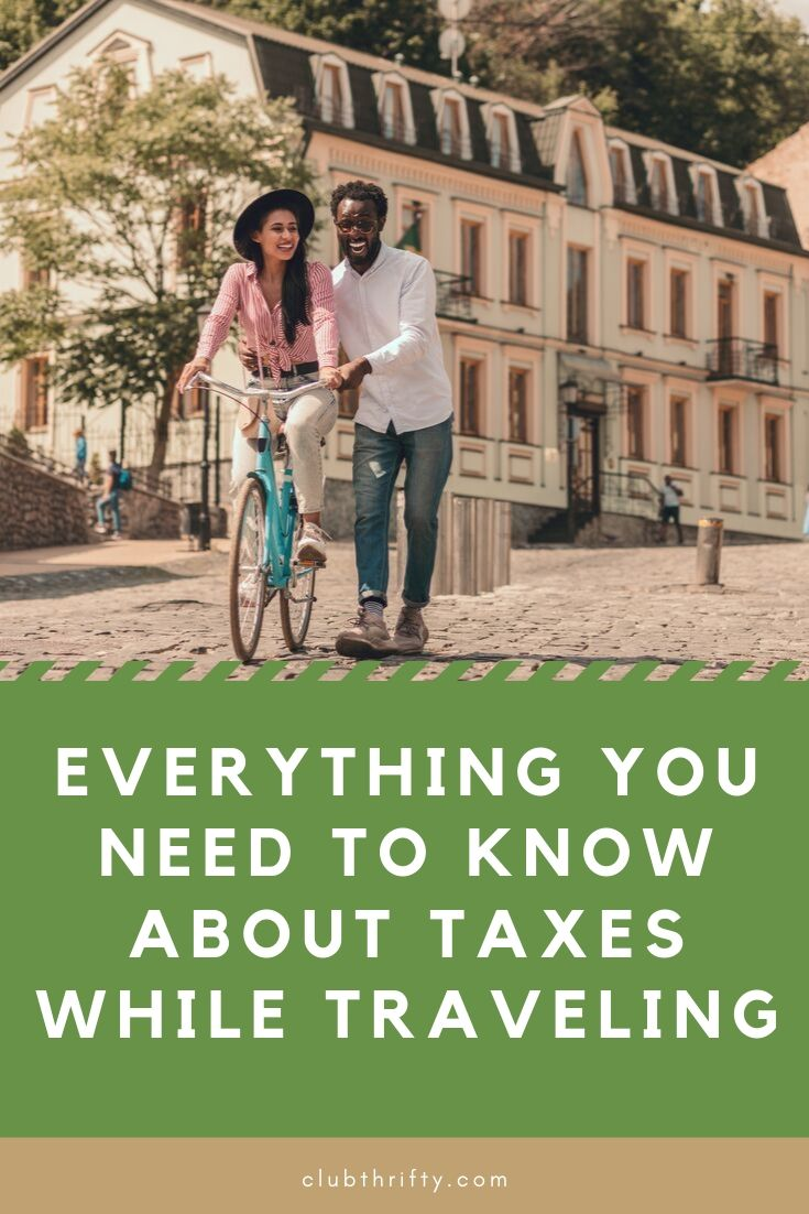 Everything You Need to Know About Taxes While Traveling Pin - couple biking on cobblestone street