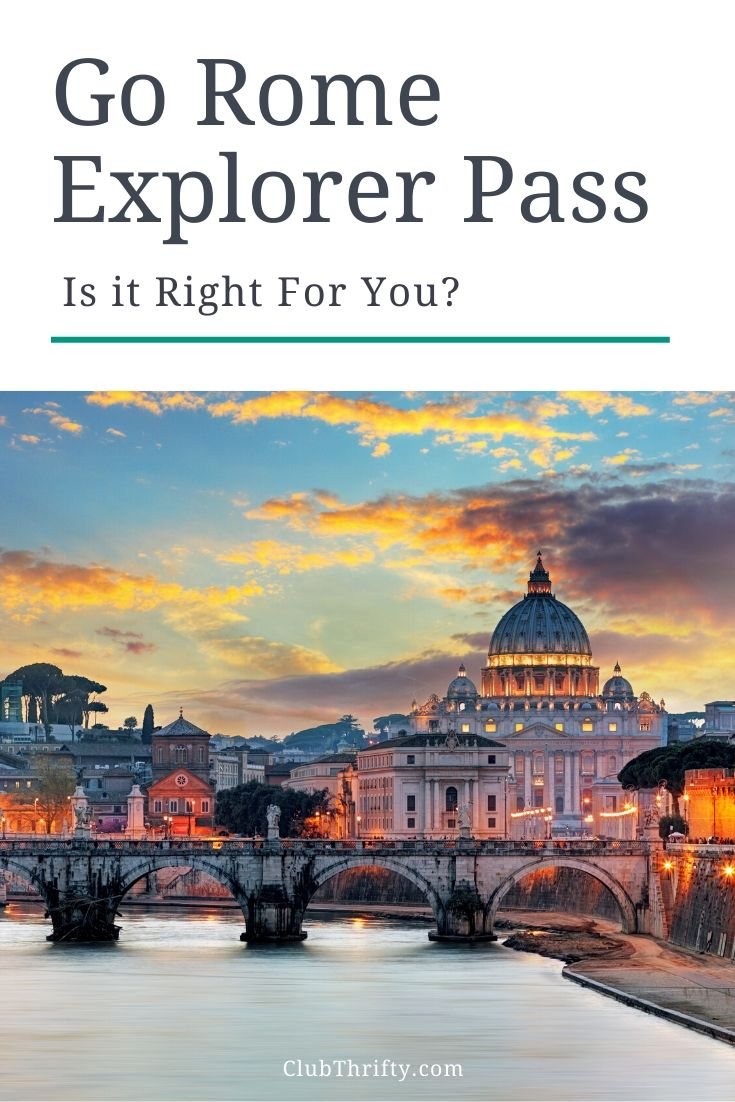 Go Rome Explorer Pass pin - picture of Rome at night
