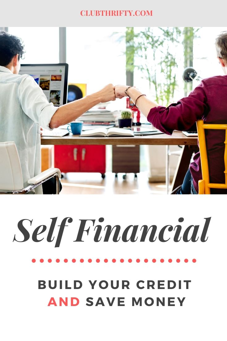 Self Financial Review Pin - picture of couple at desk fist pumping