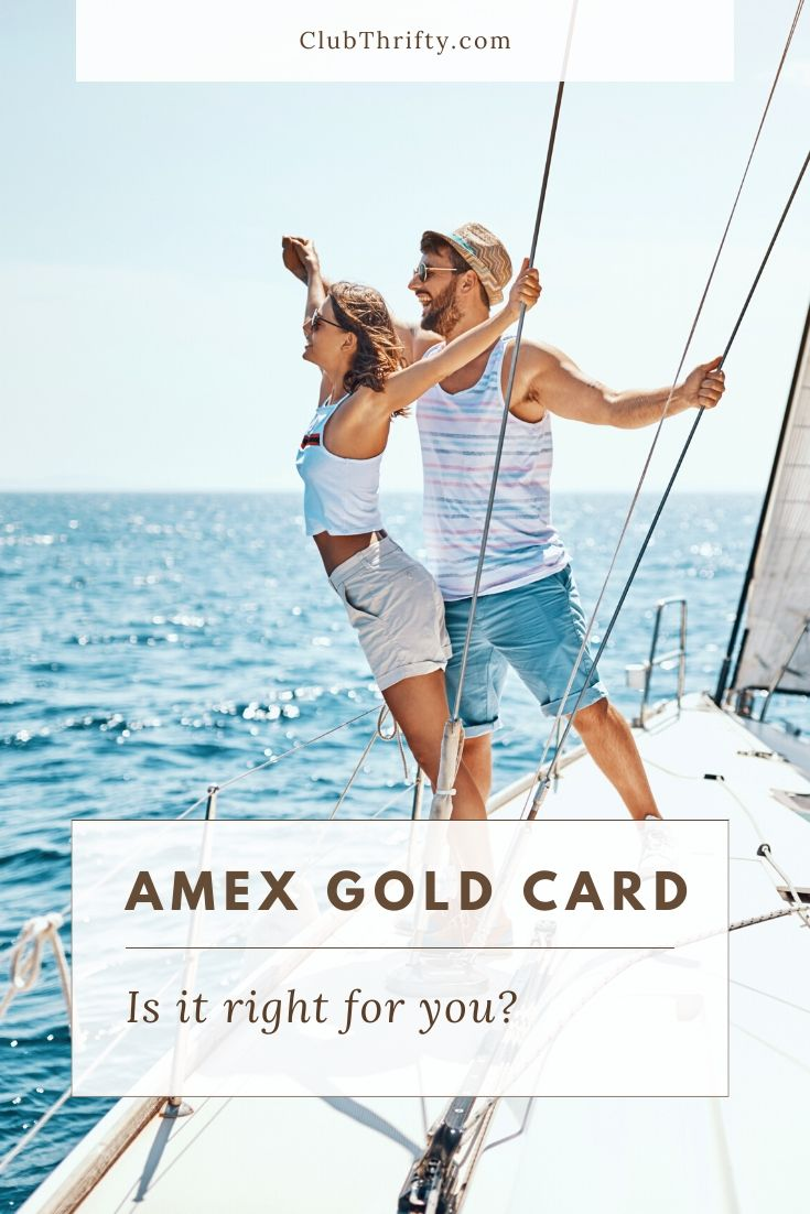 Amex Gold Card Review Pin - picture of couple on sailboat