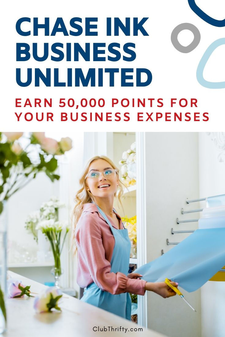 Chase Ink Business Unlimited Review Pin - picture of businesswoman smiling at customer