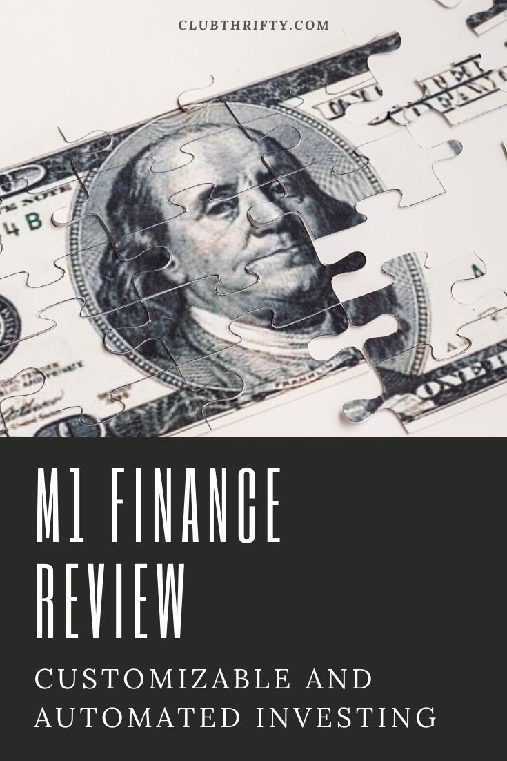 M1 Finance Review Pin - picture of dollar bill puzzle