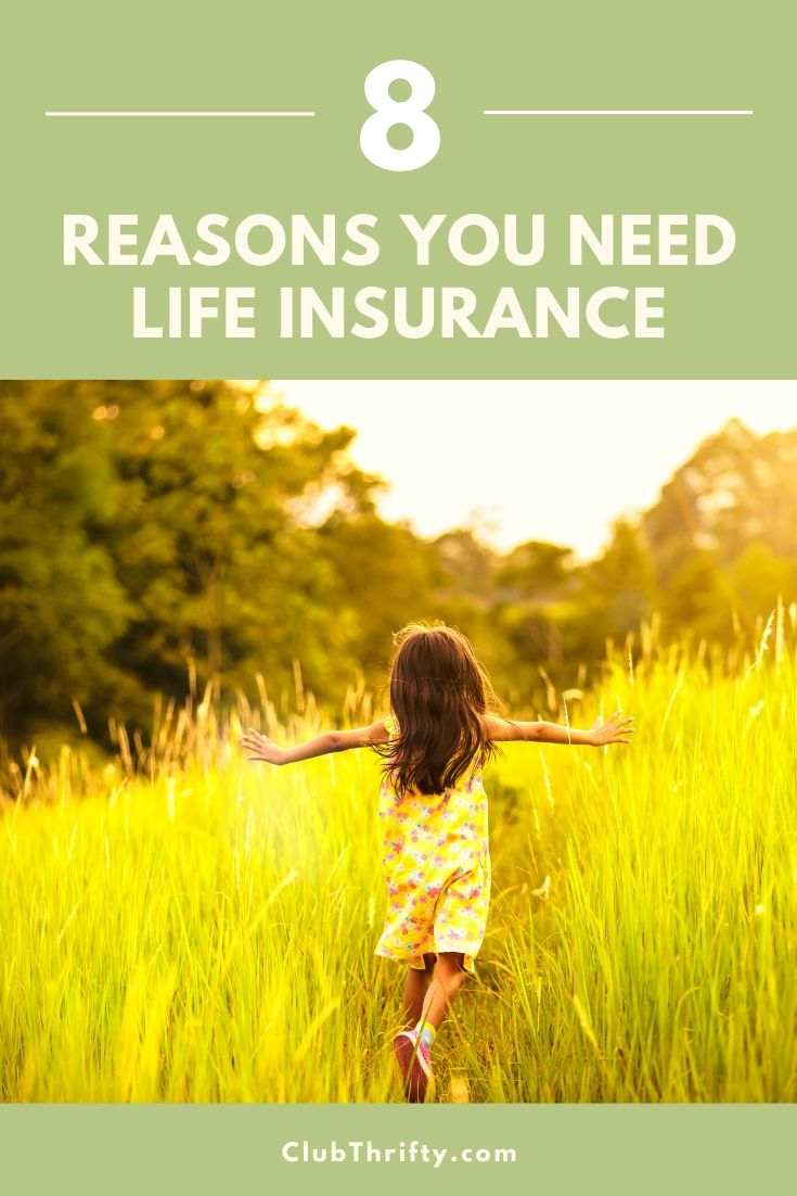 Reasons for Life Insurance Pin - picture of young girl running through overgrown field with outstretched arms