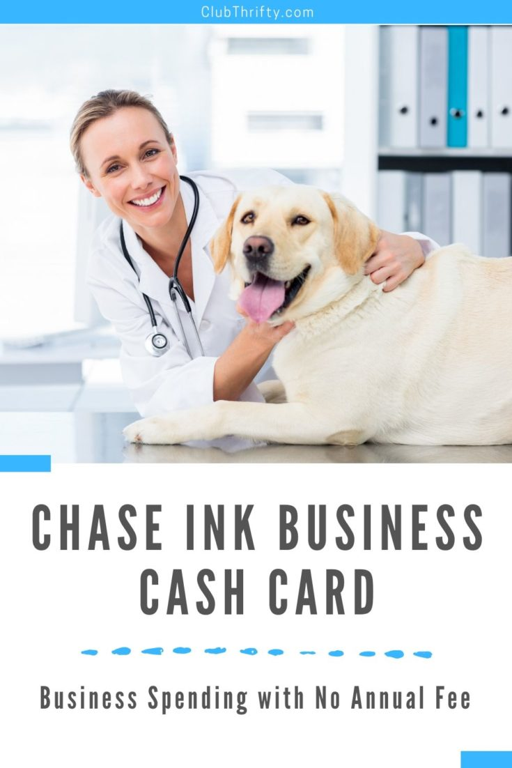Chase Ink Business Cash Card Pin - picture of female vet with dog