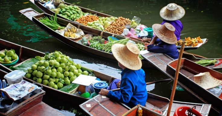 Go Bangkok Pass Review - picture of floating market