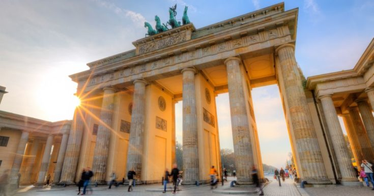 Go Berlin Pass Review - picture of Brandenburg Gate at sunset