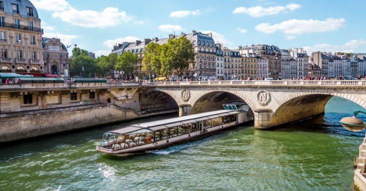 Go Paris Explorer Pass Review - picture of tour boat on Seine River