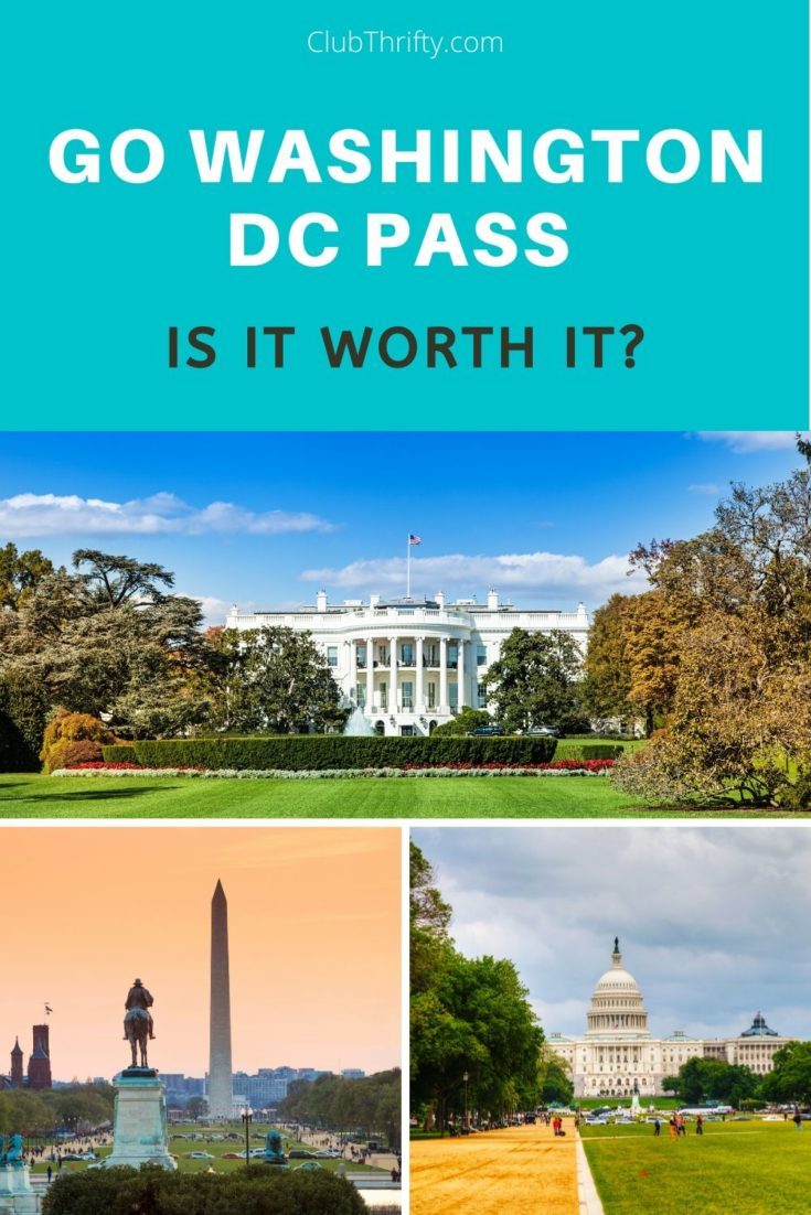 Go Washington DC Pass Review Pin - pictures of DC landmarks