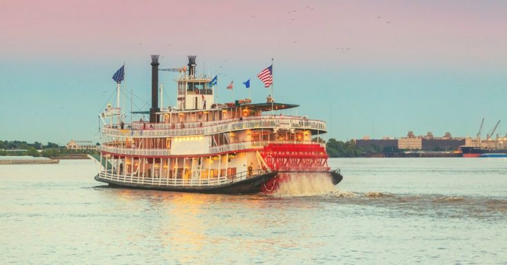 picture of steamboat in New Orleans