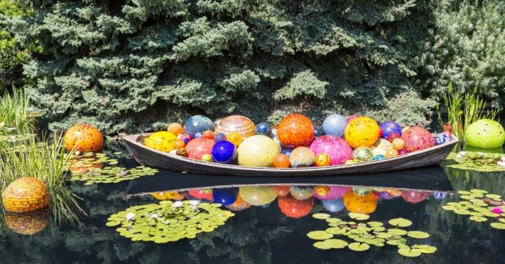 Tampa Bay CityPASS Review - picture of Chihuly blown glass bulbs in a canoe on the water