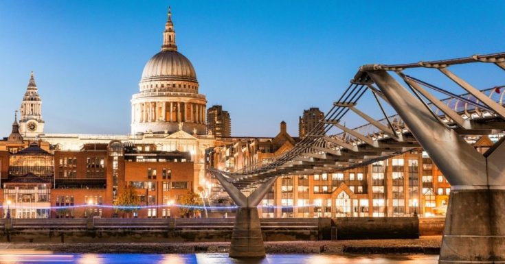 Go London Explorer Pass Review - picture of St Pauls Cathedral at dusk