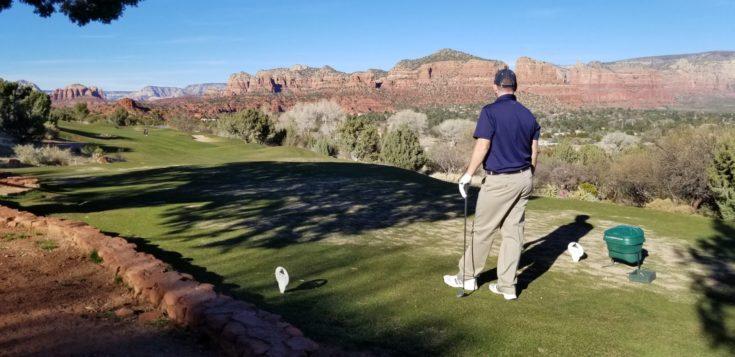 photo of Greg golfing at Sedona Golf Resort