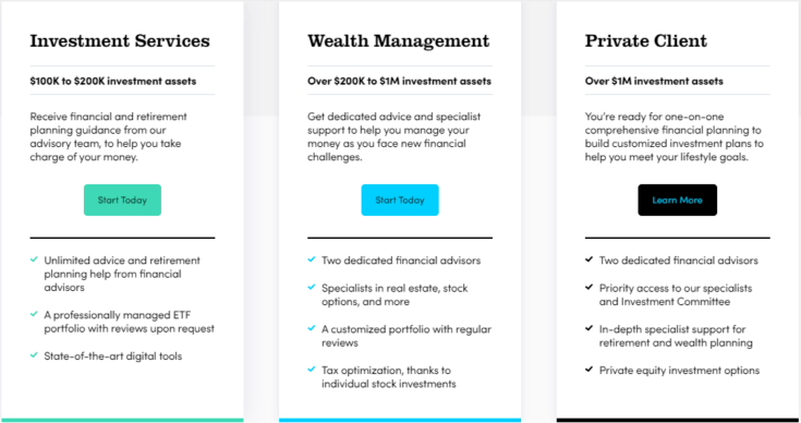 Personal Capital Wealth Management Services