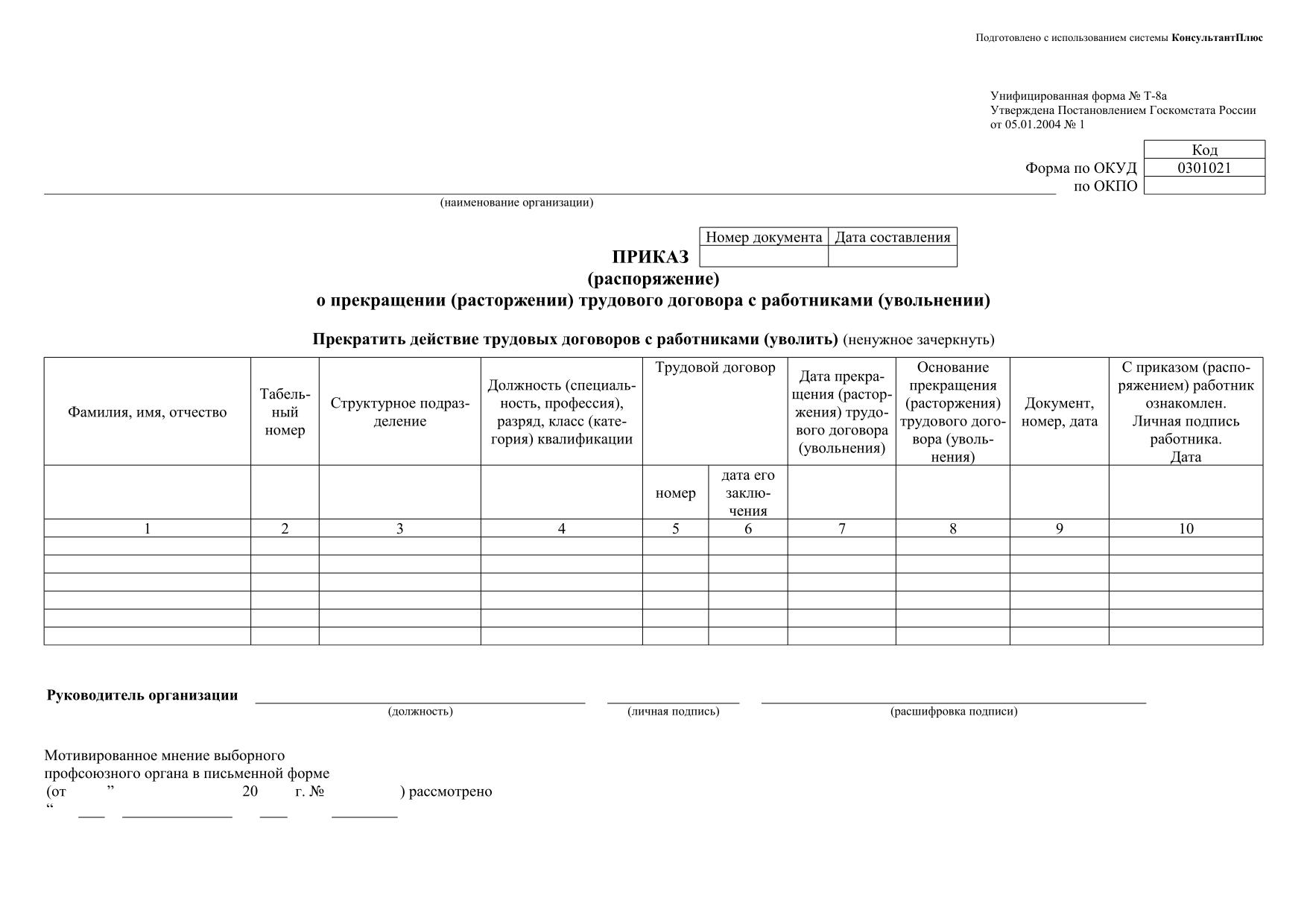заключение трудового договора автономная некоммерческая организация