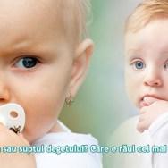75% dintre copiii care folosesc suzeta timp îndelungat prezintă o îngustare a maxilarului