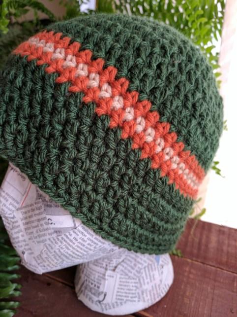 Men's Large Crochet Beanie Pattern