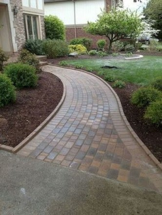 Comfy Front Yard Pathways Landscaping Ideas You Must Know35