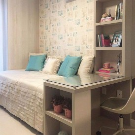 Delicate Tiny Bedroom Decor Ideas For Teens26
